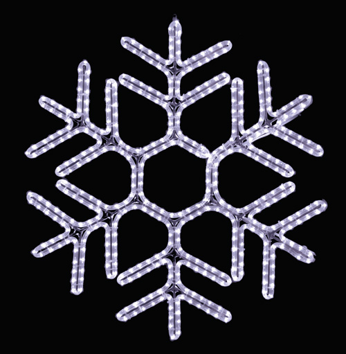 Hanging 36 inch Hexagon Snowflake in Pure White