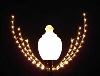 Lamppost Silhouette Sprigg, Lamppost 4 Feet