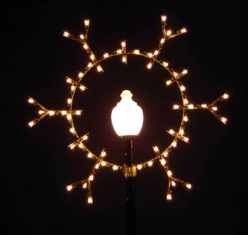 Lamppost Silhouette Snowflake, Lamppost 6 Feet