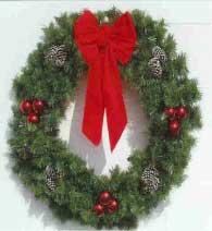 Garland Building Front Wreath 5 Feet