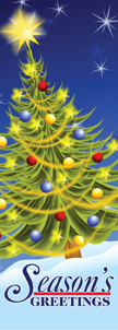 Seasons Greetings Electric Tree Banner