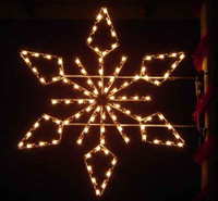 Desginer LED Light Snowflake Decoration for Street Poles and Lamps