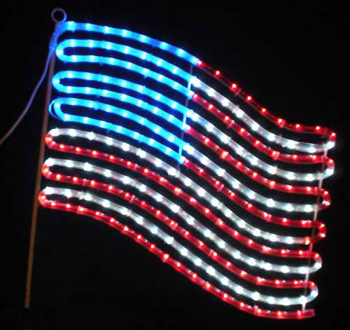 United States Flag Outdoor Led Rope Light Decoration
