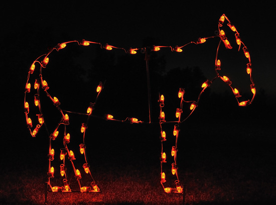 Outdoor Lighted Nativity Scene Decoration http://www.edecorsource.com/4_standing_donkey_LED_light_nativity.html