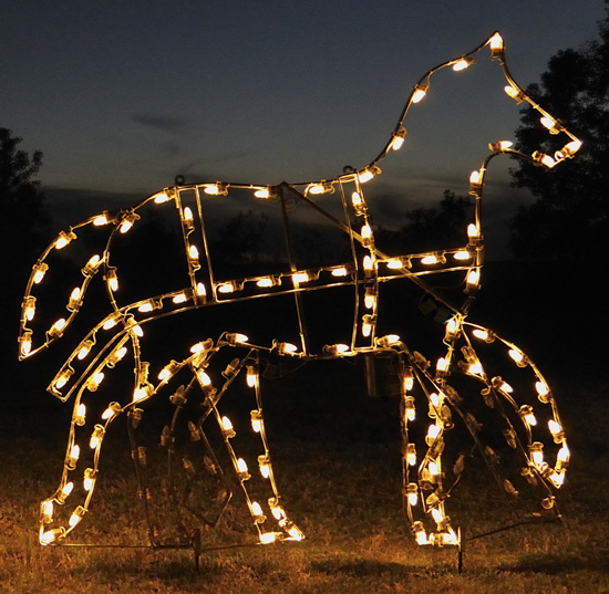 Animated Victorian Horse Outdoor LED Light Decoration