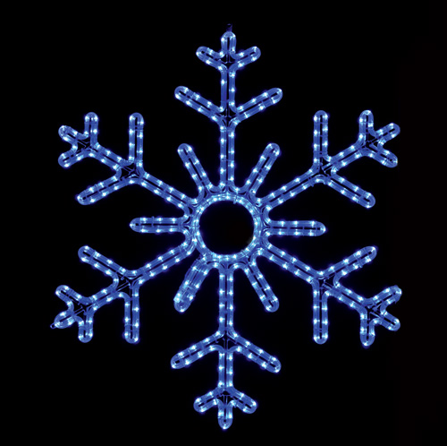 Gorgeous 6 Point Hanging Snowflake Featuring Brilliant