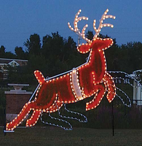 Animated Reindeer Garland Christmas Lights Commercial Outdoor Decoration