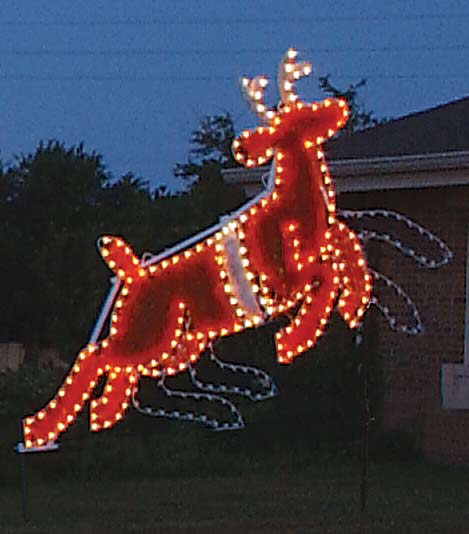 Animated Lead Reindeer Garland Christmas Lights Commercial Outdoor Decoration