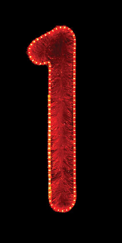 Large garland and LED number 1