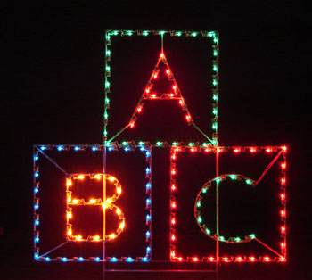 Silhouette ABC Blocks, 5 feet