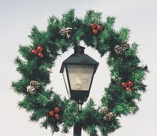 Double Ring Garland Wreath 5 Feet