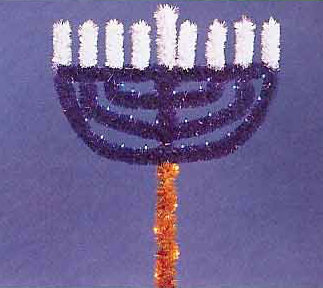 Garland Menorah, 6 Feet