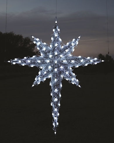 Hanging Moravian Star, 6 feet, Cool White