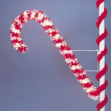 Pole Mount Garland Candy Cane, Pole Mount 6 Feet