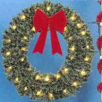 Pole Mount Traditional Garland Wreath, Pole Mount 4 and 5 Feet