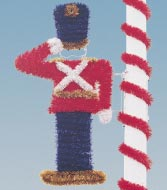 Pole Mount Garland Toy Soldier, Pole Mount 7.5 Feet