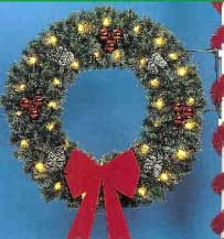 Pole Mount Deluxe Garland Wreath, Pole Mount 4 and 5 Feet
