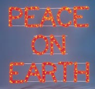 Peace On Earth Sign Outdoor Christmas Decoration