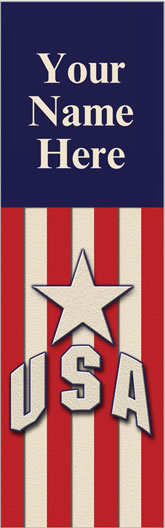 Star USA Patriotic Welcome Pole Banner
