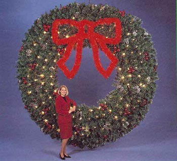 Deluxe Garland Wreath without Bow - Building Front 12 Feet