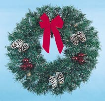 Building Front Garland Wreath, 3 feet