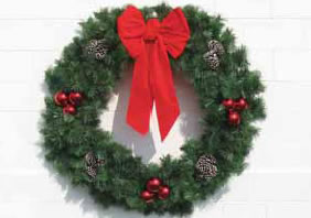 Building Front Deluxe Garland Wreath, 4 and 5 feet