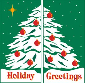 Holiday Greetings Double Tree Banner