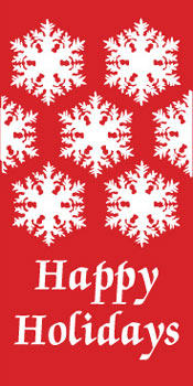 Happy Holidays Snowflake Banner