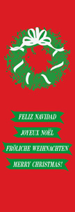 Multiple Languages Holiday Wreath Banner