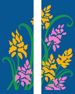 Yellow & Pink Flowers Spring Double Banner