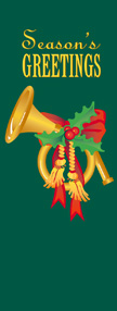 Season's Greetings with French Horn Banner