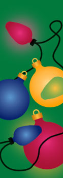 Colorful Holiday Ornaments Banner