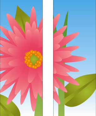Flowers: Large Pink Flower Double Banner