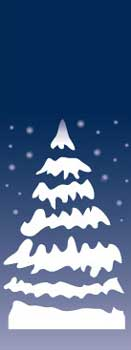 Snowy Pine Tree Banner