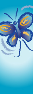 Blue Butterfly Banner