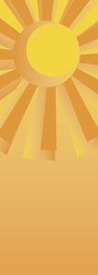 Geometric Sun on Yellow Background Banner