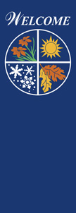 Four Seasons on Blue Welcome Banner