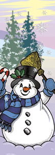 Snowman with Broom Winter Season Banner
