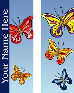 Colorful Butterflies Double Banner