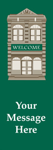 Historic Welcome Building Banner
