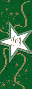 Green and Gold Joy Star Banner