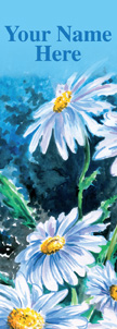 Watercolor Daisies Banner