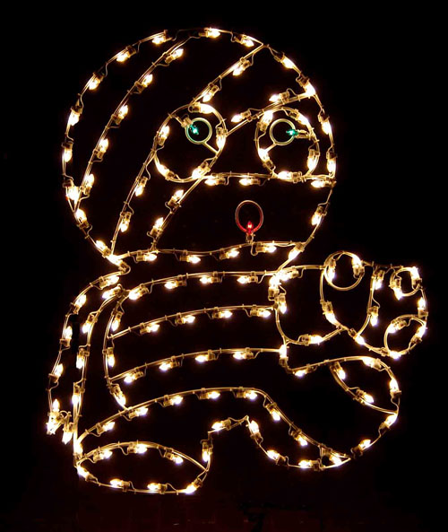 5' Silhouette Cute Baby Mummy Halloween Lights Lawn Decoration