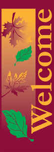 Autumn Falling Leaves Welcome Light Pole Banner