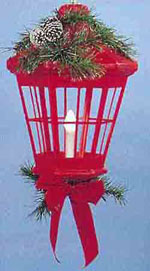 "32"" Red or White Deluxe Lantern with Decor"