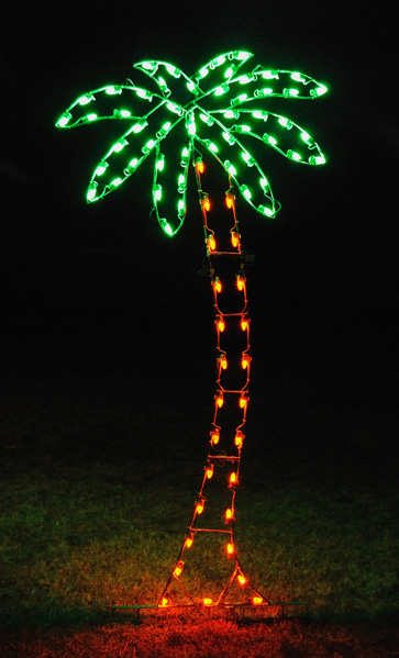 Palm Tree 8.8 Feet LED Light Display