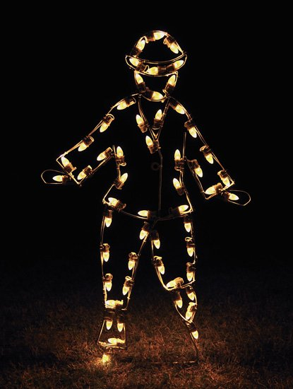 Charming Victorian Skater Boy LED Outdoor Holiday Light Decoration