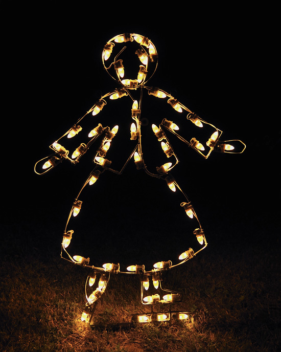 Victorian Skating Girl Classy White Light Outdoor Display decoration
