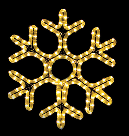 Gorgeous hexagon hanging snowflake featuring warm re white RL LED light outdoor winter decorations