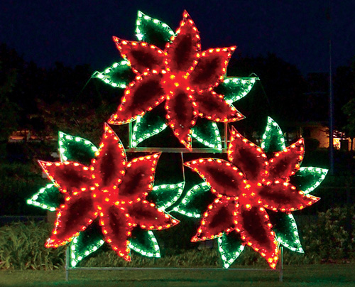 Holiday Lights - Poinsettia Cluster